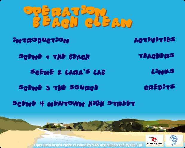 operation beach clean interactive learning resource
