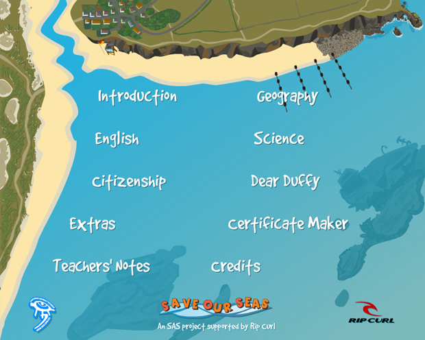 save our seas interactive learning resource