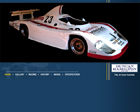 hamilton porsche - picture of a flash website which was used to advertise a porsche 936 spyder for sale